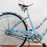 Polka Dots & Stripes - Bicycle Beach Cruiser Decals