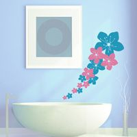 Flowing Hawaiian Flowers - Wall Decals