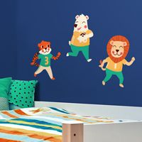 Fun & Playful Football Animals - Printed Wall Decals