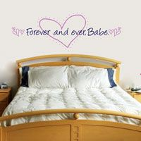 Forever and ever, Babe - Hearts & Quote - Love Wall Decals