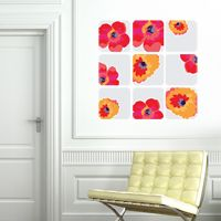 Framed Wild Flowers - Printed Wall Decals