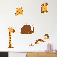 Friendly Animals - Printed Wall Decals