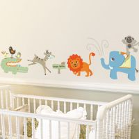 Fun Jungle Safari Animals - Printed Wall Decals
