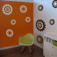 Gears & Cogs - Set of 10 - Wall Decals