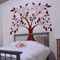 Giant Tree with Falling Leaves - Wall Decals