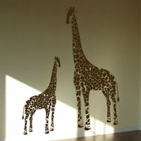Giraffes - Momma & Baby - Set of 2 - Wall Decals