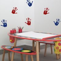 Hand Prints - Set of 12 - Wall Decals