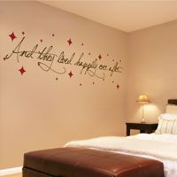 And they lived happily ever after... with stars! - Love Wall Quotes & Decals