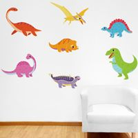 Happy & Fun Dinosaurs - Printed Wall Decals