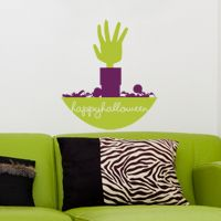 zombie hand halloween wall decals