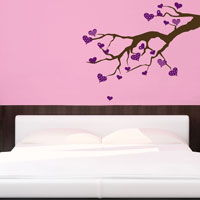 Heart Branch - Wall Decals