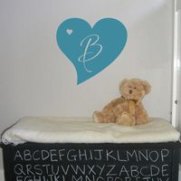 Heart Monogram- Personalized Wall Decal