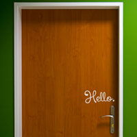 Hello and Goodbye - Door Quotes - Wall Decals