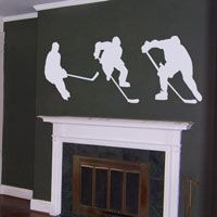 Hockey Players - Series of 3 - Wall Decals