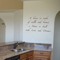 a Home is built with Love & Dreams - Wall Words & Decals