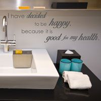 I Have Decided to Be Happy - Quotes - Wall Words Decal
