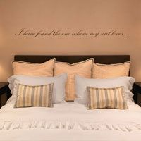 I have found the one whom my soul loves - Quote - Love - Wall Decals