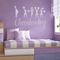 I love Cheerleading - Sports - Wall Decals