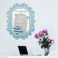 I Love Monsters - Frame - Printed Wall Decals