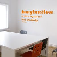 Imagination is more important than Knowledge - Quotes - Wall Decals