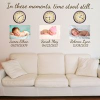 Clock - Customized with Time - Printed Wall Decals