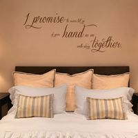 I Promise to Never Let Go - Quote - Wall Decals