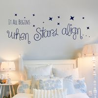 It All Begins When Stars Align - Quote - Love - Wall Decals