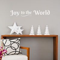 Joy to the World - Christmas Holiday - Wall Decals
