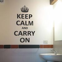 Keep Calm and Carry On - Wall Decals