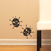 Lady Bugs - Set of Three - Wall Decals