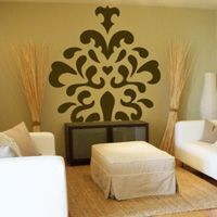 Large Damask Mural - Wall Decals