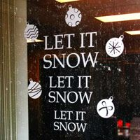 Let it Snow Let it Snow - Ornaments - Holiday Wall or Window Decals