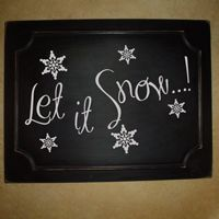 Let it Snow - Winter - Snowflakes - Holiday Wall Decals