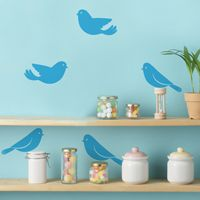 Sweet Little Birds - Set of 10 - Wall Decals