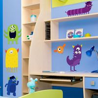 Little Pack of Monsters - Printed Wall Decals