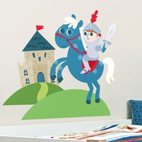 Little Knight, Castle & Horse - Printed Wall Decals