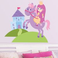 Little Princess, Castle & Unicorn - Printed Wall Decals