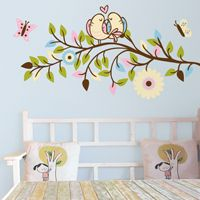 Love Birds on a Branch - Printed Wall Decals