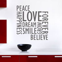 Inspirational Wall Words - Wall Decals
