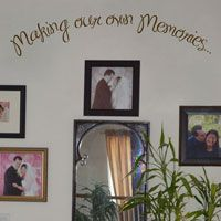Making our own Memories - Quote - Family - Love - Wall Decals