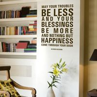 May Your Troubles Be Less - Irish Blessing - Quote - Wall Decals