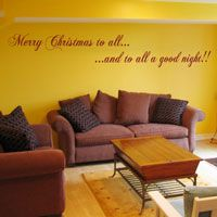 Merry Christmas to All - Holiday Wall Decals