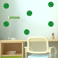 Mini Baseballs - Set of 10 - Wall Decals