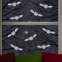 Mini Bats - Set of 9 - Wall Decals
