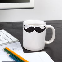 Mini Mustaches - Set of 8 - Wall Decals