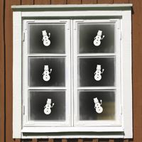Mini Snowmen - Winter - Set of 6 - Wall Decals