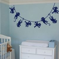 Lots of Monkeys Swinging - Wall Decals