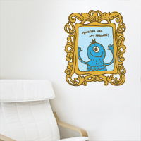 Monsters are My Friends - Frame - Printed Wall Decals
