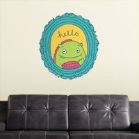 Monster Says Hello - Frame - Printed Wall Decals