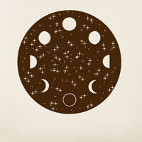 Lunar Cycle - Moon Phases - Wall Decal